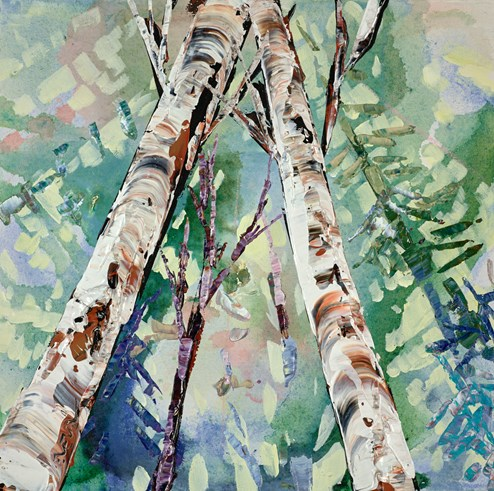 Reaching For Sunlight II by Maya Eventov - Original Painting on Stretched Canvas